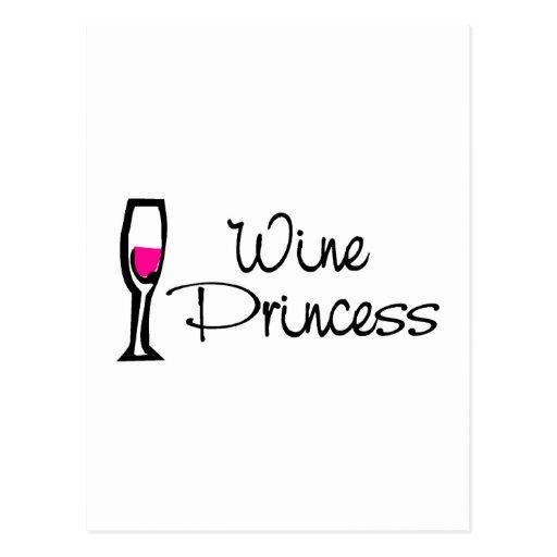 Princesa del vino tarjeta postal