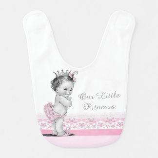 Princesa del vintage babero para bebé