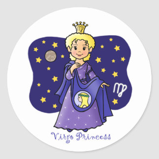 Princesa del virgo pegatina redonda