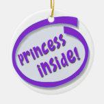 princesa dentro del ornamento de la suspensión de  ornaments para arbol de navidad
