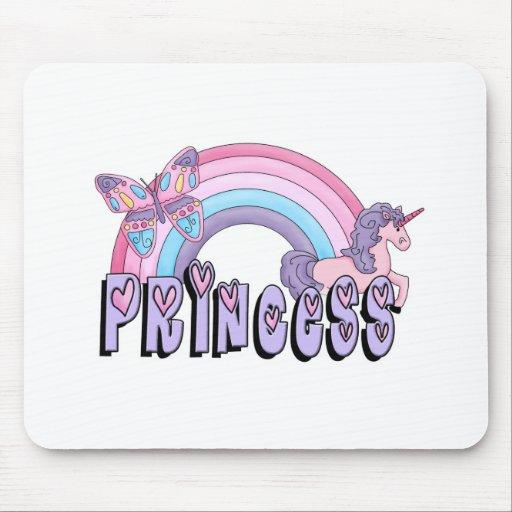 Princesa Design de la mariposa del unicornio del a Alfombrilla De Raton