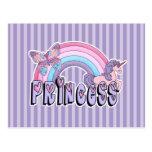 Princesa Design de la mariposa del unicornio del a Tarjeta Postal