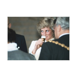 Princesa Diana Alemania 1987 Impresión En Lienzo