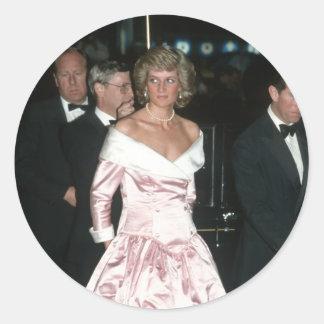 Princesa Diana Alemania 1987 Pegatina Redonda