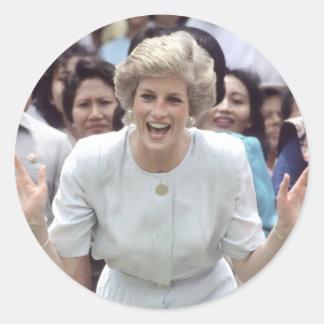 ¡Princesa Diana At Last! Etiqueta Redonda