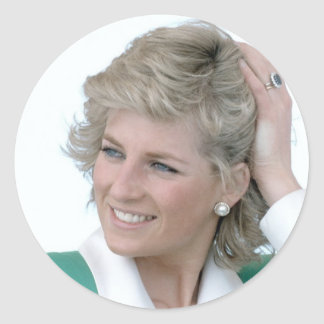 Princesa-Diana-Australia Pegatina Redonda