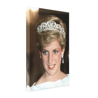 Princesa Diana Bahrein 1986 Impresión En Lienzo Estirada