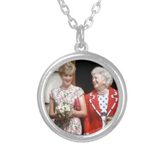 Princesa Diana-Barbara Bush Colgante Redondo