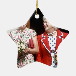 Princesa Diana-Barbara Bush Adorno De Cerámica En Forma De Estrella