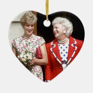Princesa Diana-Barbara Bush Adorno De Cerámica En Forma De Corazón