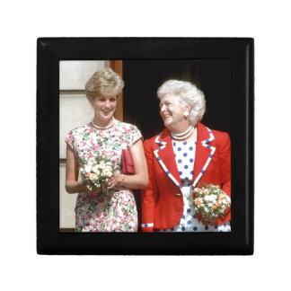 Princesa Diana-Barbara Bush Joyero Cuadrado Pequeño