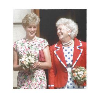Princesa Diana-Barbara Bush Libretas Para Notas