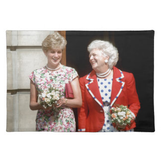 Princesa Diana-Barbara Bush Manteles