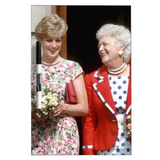 Princesa Diana-Barbara Bush Pizarras Blancas De Calidad