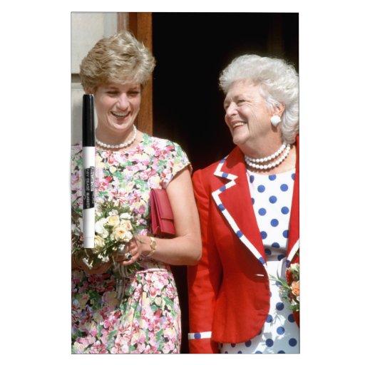 Princesa Diana-Barbara Bush Pizarras Blancas