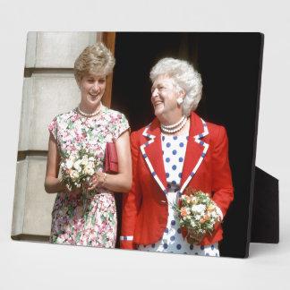 Princesa Diana-Barbara Bush Placa De Madera