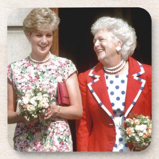 Princesa Diana-Barbara Bush Posavasos De Bebidas