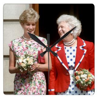 Princesa Diana-Barbara Bush Reloj Cuadrado
