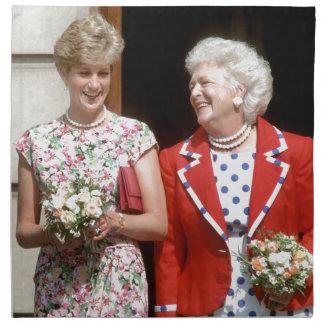 Princesa Diana-Barbara Bush Servilletas