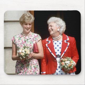 Princesa Diana-Barbara Bush Alfombrillas De Ratones
