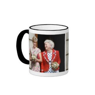 Princesa Diana-Barbara Bush Taza A Dos Colores