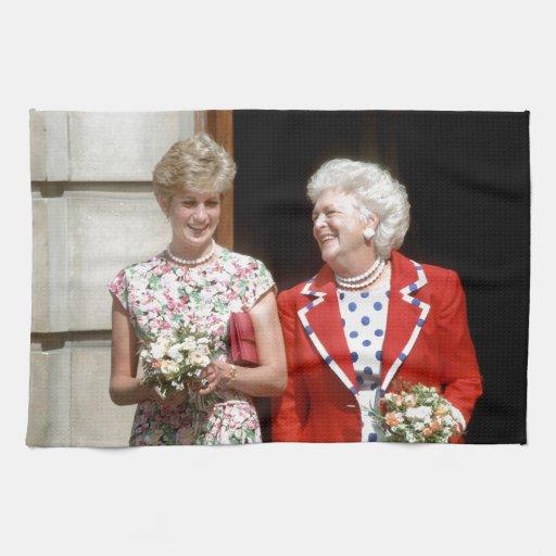 Princesa Diana-Barbara Bush Toalla De Cocina