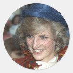 Princesa Diana Bishopton 1983 Pegatinas Redondas