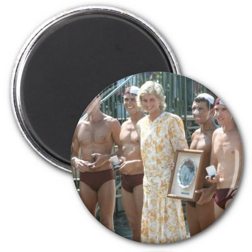 Princesa Diana Bondi Beach Australia 1988 Imanes De Nevera
