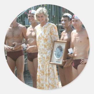 Princesa Diana Bondi Beach Australia 1988 Pegatinas Redondas