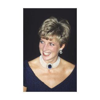 Princesa Diana Canadá 1991 Impresión En Lona Estirada