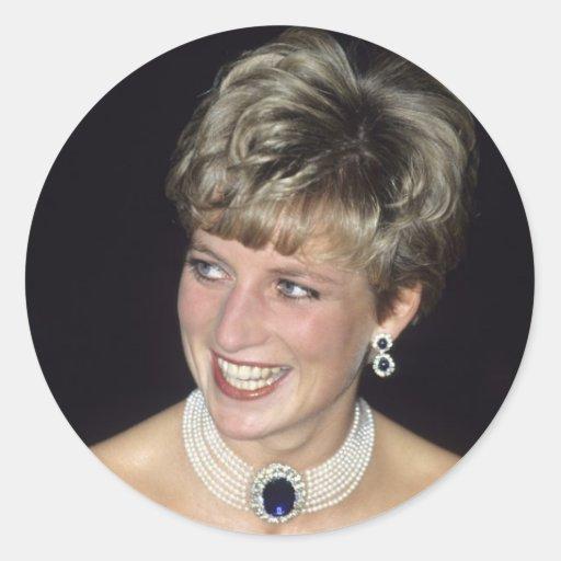 Princesa Diana Canadá 1991 Pegatina Redonda
