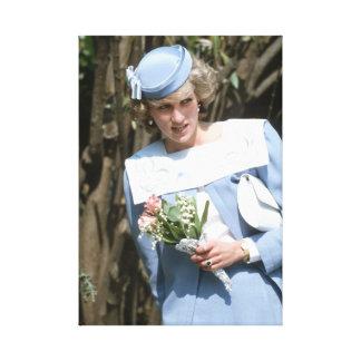 Princesa Diana Cerdeña 1985 Impresión En Lienzo