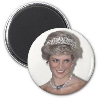 ¡Princesa-Diana-Chispas! Imán Redondo 5 Cm