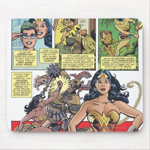 Princesa Diana de la Mujer Maravilla Alfombrillas De Ratones