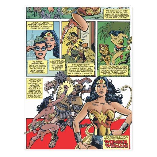 Princesa Diana de la Mujer Maravilla Tarjeta Postal