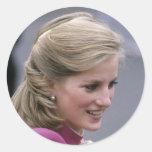 Princesa Diana Ealing 1984 Pegatina Redonda