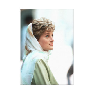 Princesa Diana Egipto 1992 de HRH Impresion En Lona