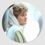 Princesa Diana Egipto 1992 de HRH Pegatinas Redondas
