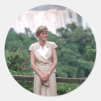 Princesa Diana el Brasil 1991 Etiquetas Redondas