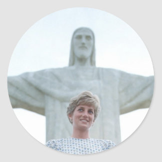 Princesa Diana el Brasil Etiqueta Redonda
