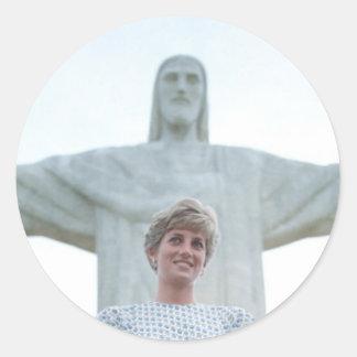 Princesa Diana el Brasil Pegatina Redonda