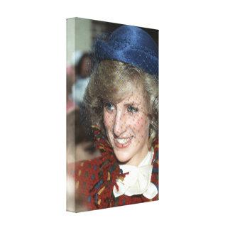 Princesa Diana Escocia Lienzo Envuelto Para Galerías