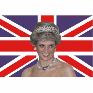 Princesa Diana Flies la bandera Fotoescultura Vertical