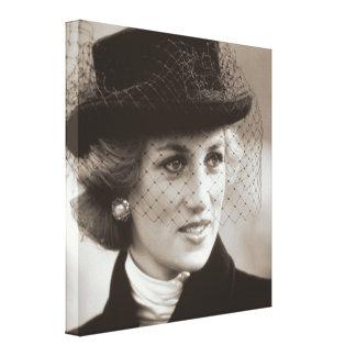 Princesa Diana Francia 1988 Impresión En Lienzo