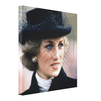 Princesa Diana Francia 1988 Lona Envuelta Para Galerías