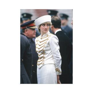 Princesa Diana Gatwick 1987 Impresión En Lienzo