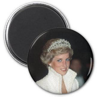 Princesa Diana Hong Kong 1989 Imán Redondo 5 Cm