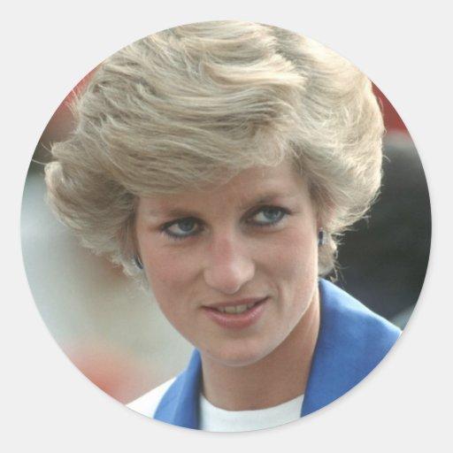 Princesa Diana Hong Kong 1989 Pegatina Redonda