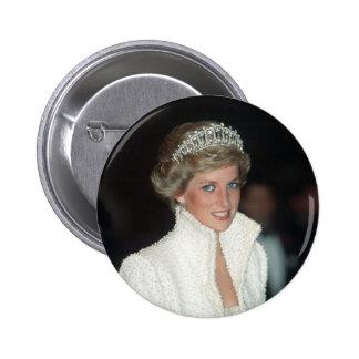 Princesa Diana Hong Kong 1989 Pin Redondo 5 Cm
