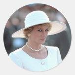 Princesa Diana Hungría 1990 Etiquetas Redondas